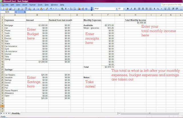 how to make a budget includes basic monthly spreadsheet