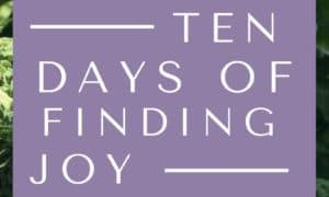 10 Days of Finding Joy